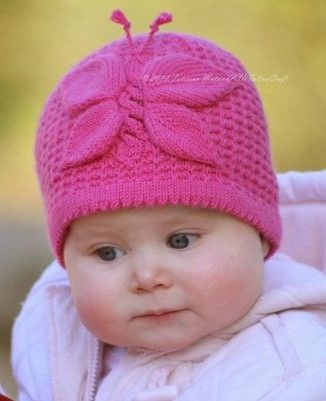 Knitting Pattern Lady Butterfly Hat From Birth To Up To 10 Years