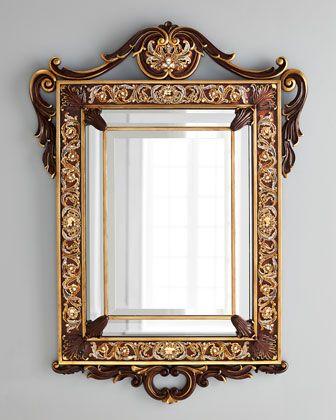 Jay Strongwater Laurent Arabesque Wall Mirror   Espejo y Marcos