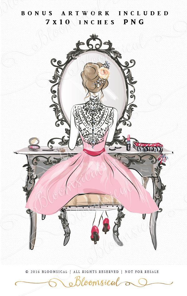 diva clip art hand drawn fashion girl beauty make up. Black Bedroom Furniture Sets. Home Design Ideas