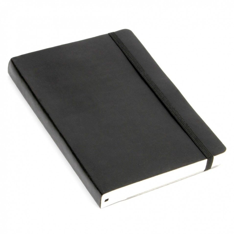 Agenzio Medium Thick Black Soft Ruled Notebook (With