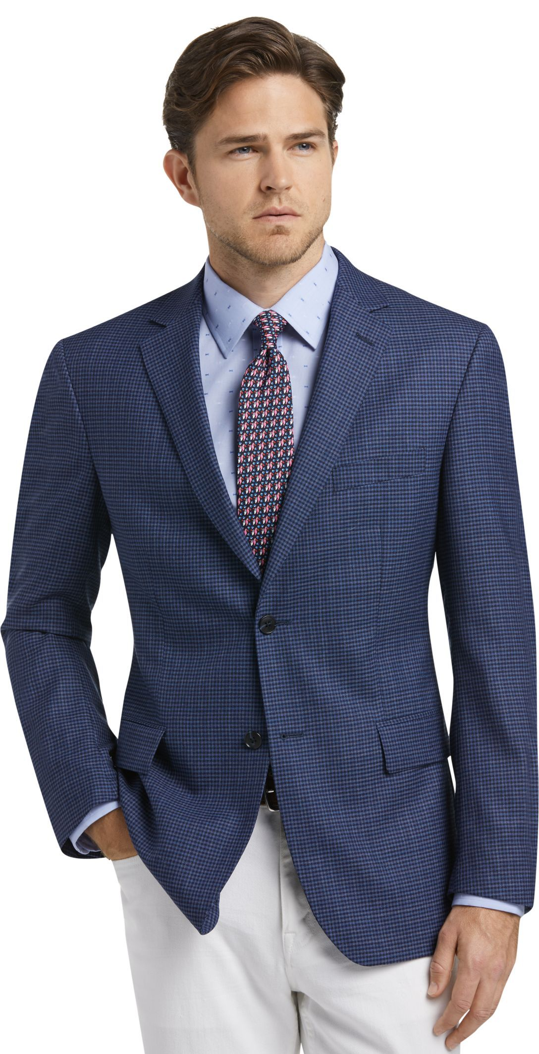 Traveler Collection Tailored Fit Check Sportcoat CLEARANCE