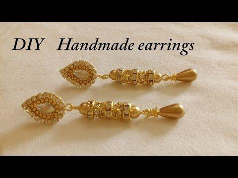 DIY || how to make Designer Bridal Jhumka earrings at home ...