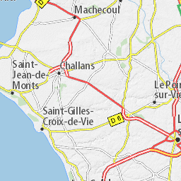 Carte Détaillée Vendée Plan Vendée Viamichelin Carte Vendée Carte Vendée