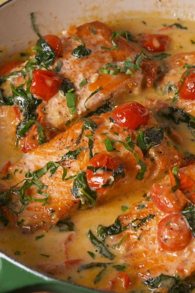 Tuscan Butter Salmon #salmonrecipes
