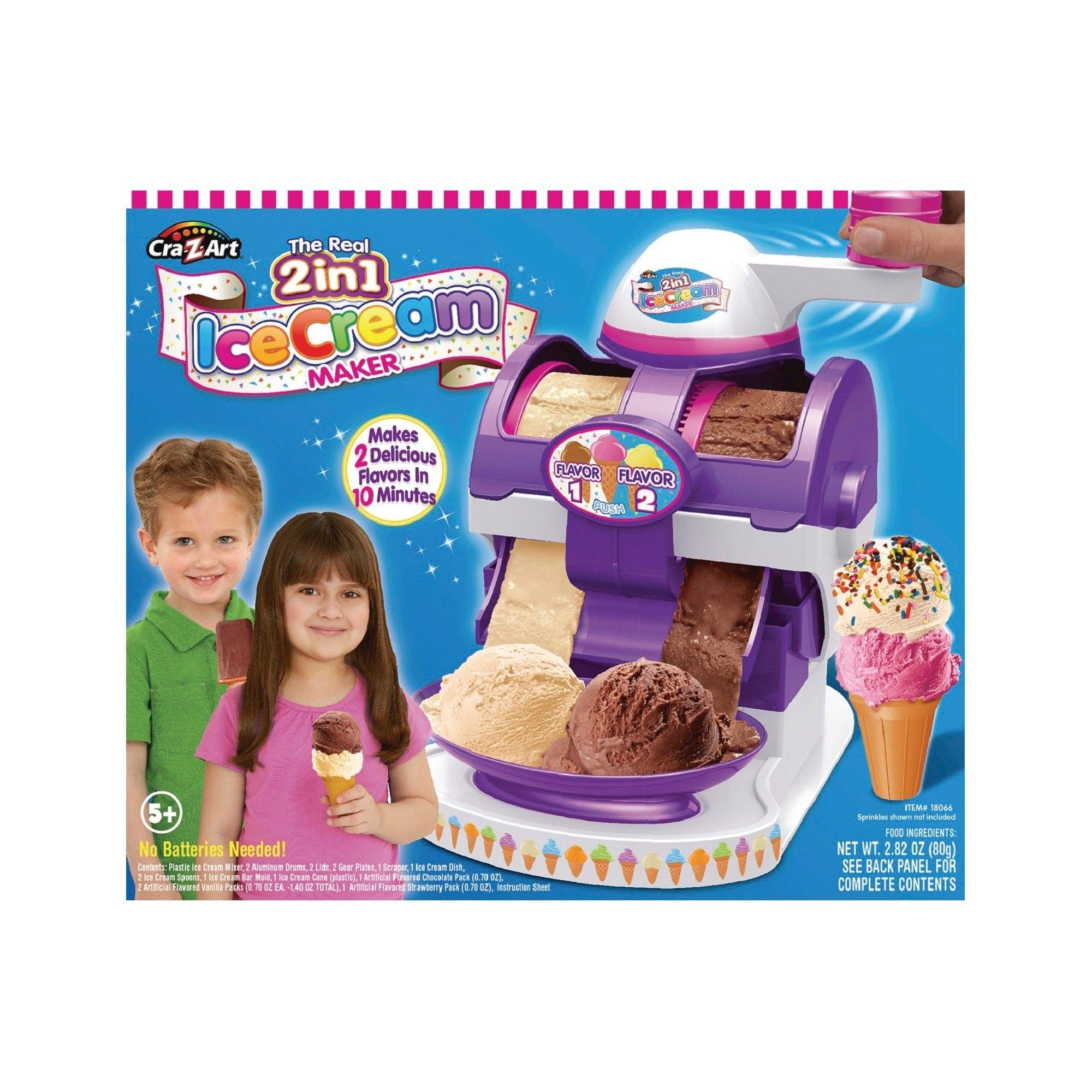 Cra-Z-Art The Real 2 in 1 Ice Cream Maker, | Kids ice ...