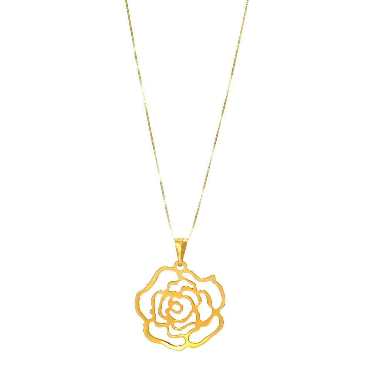 Cliffside Jewelers K Yellow Gold Flower Necklace