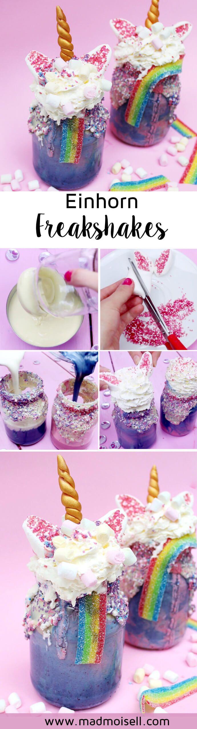 Photo of Make unicorn freakshakes yourself: crazy recipe for unicorn fans!