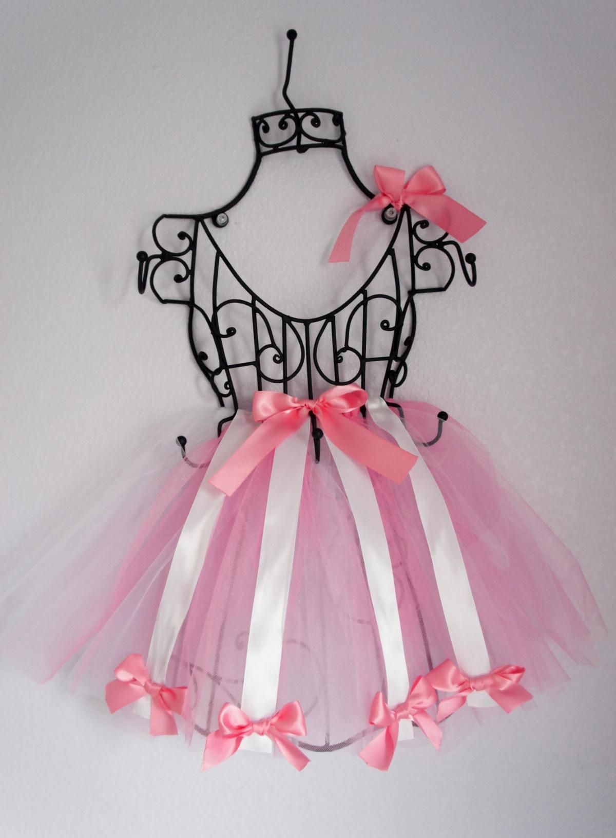 Tutu hair bow holder wire frame french vintage inspired baby