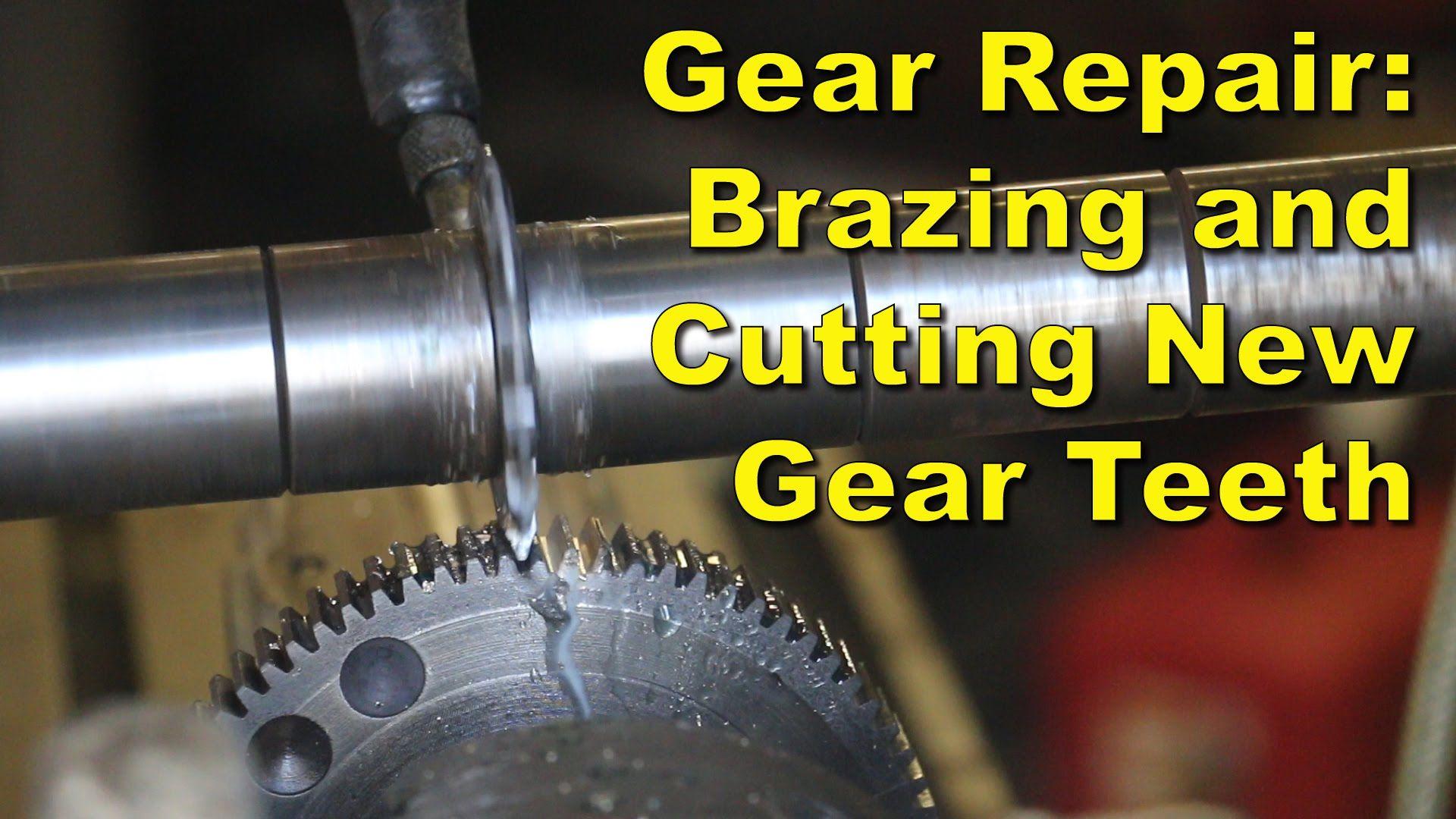 Broken gear repair brazing up and machining new teeth