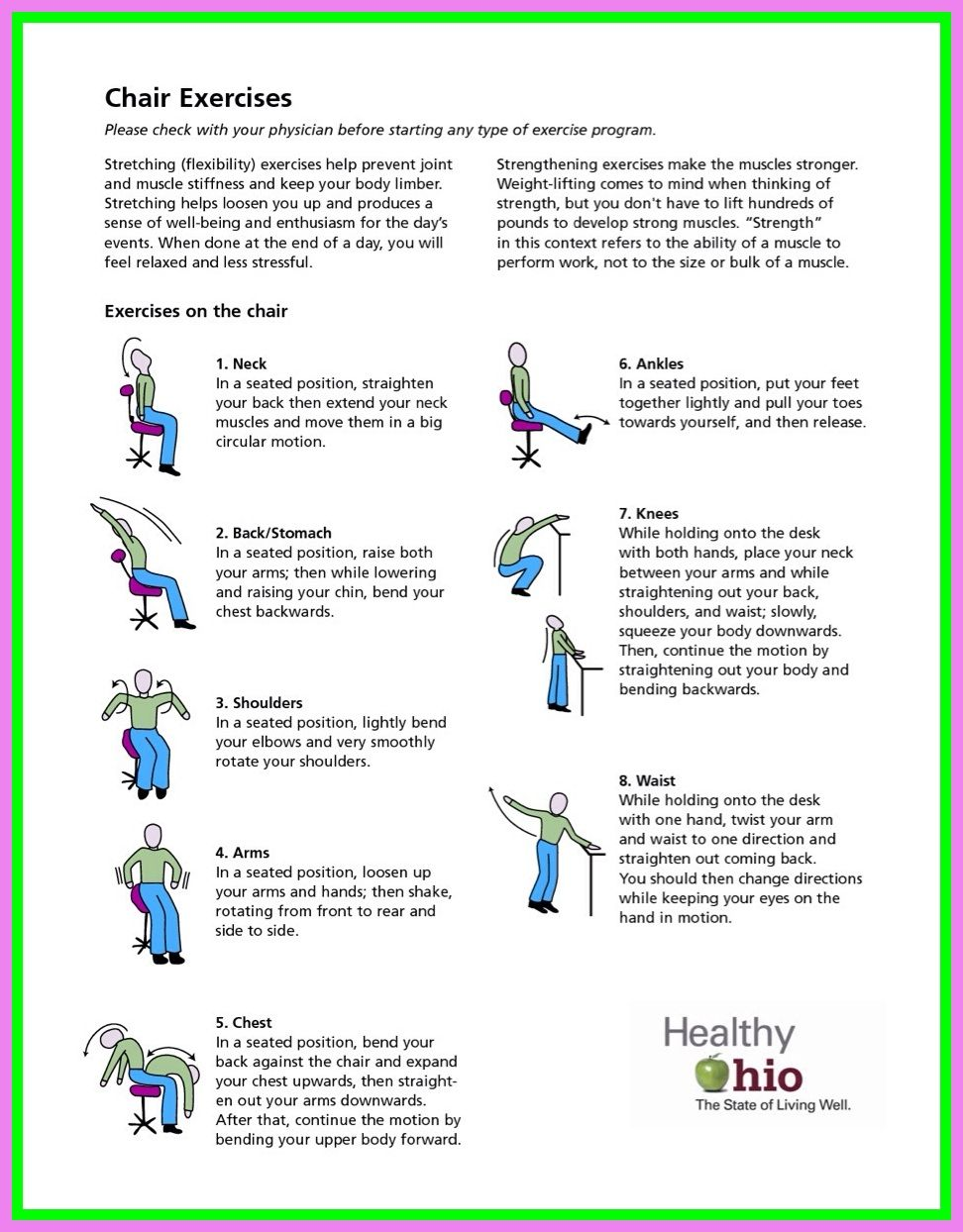 51 Reference Of Printable Chair Exercises For Elderly With Pictures In 2020 Chair Exercises Senior Fitness Exercise