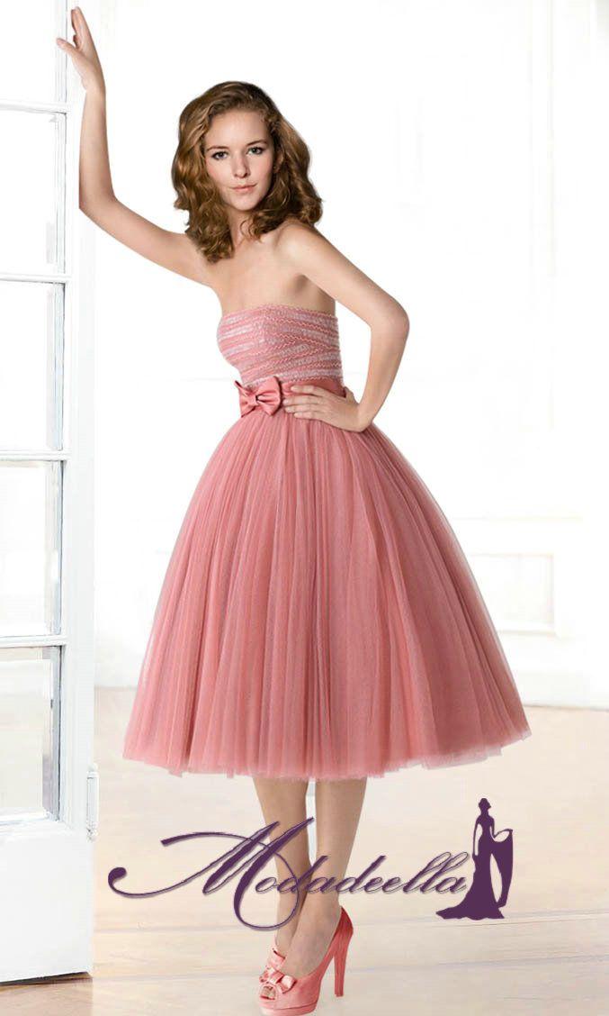Palabra de Honor Simpatico Vestido Corto de Fiesta MEP119 | vestidos ...