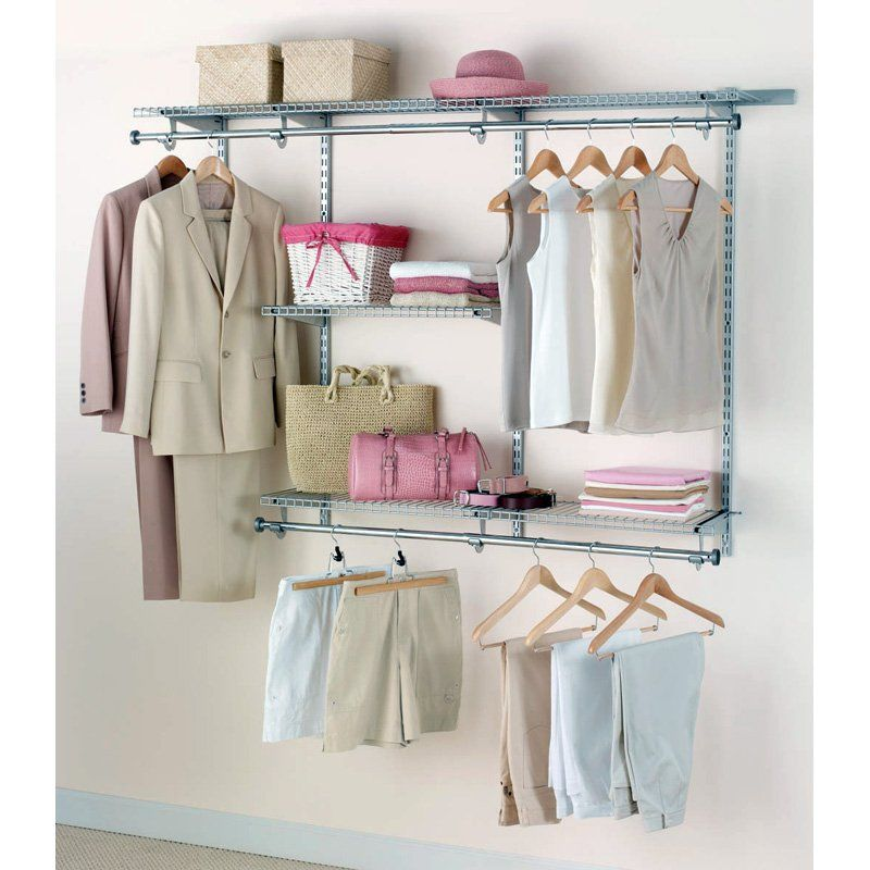 Rubbermaid 3 6 Ft Configurations Custom Closet Kit Titanium