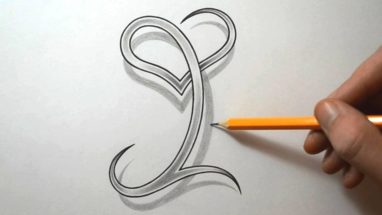 Drawing The Letter I With A Heart Combined With Images Tattoo
