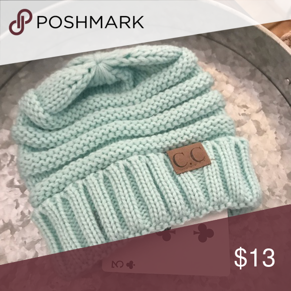 06bc8e59d83ab Infant  Toddler C.C. Beanie🧤🧣 This cute infant  toddler mint color C.C.  Beanie is perfect for your little one!! C.C. Accessories Hats