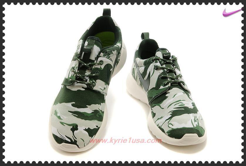 879c302f00e7 Mens-Womens Nike Roshe Run Print 655206-203 Army Green Sail White For Black  Friday 7UROXL