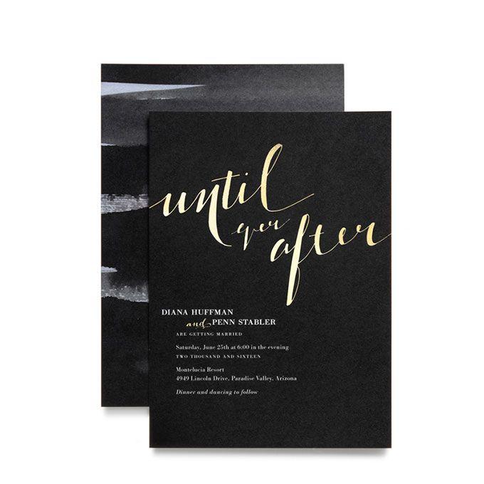 Brides formal black and gold foil wedding invite until ever after brides formal black and gold foil wedding invite until ever after gold stopboris Choice Image