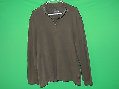 Eddie Bauer 100% Cotton Tall Men's Size L 1/2 Zip Pull Over Sweater Sweat Shirt #Sweater #Fashion #Deal #EddieBauer #BlackFriday #Menswear #CyberMonday #ChristmasDeal