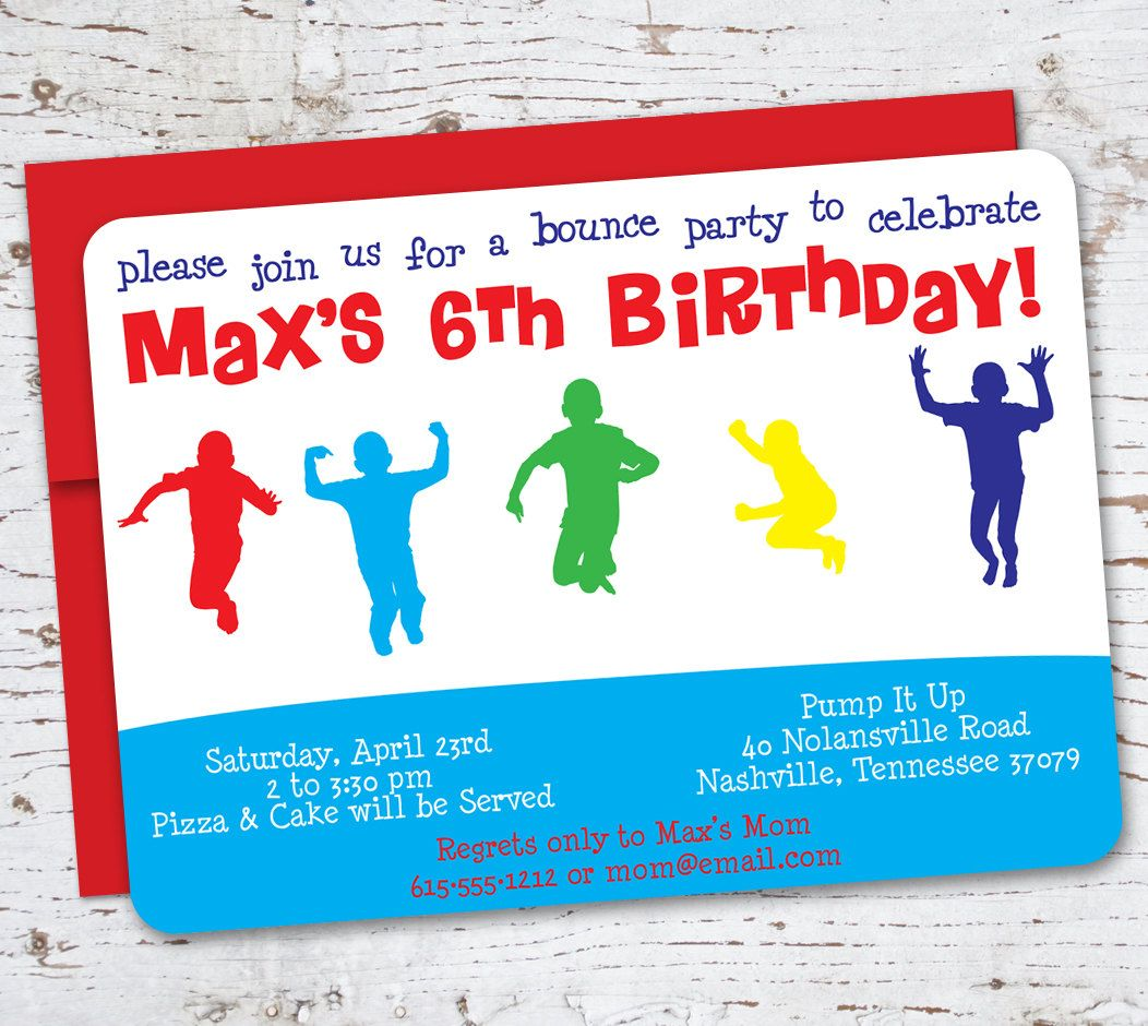 bounce party birthday google search livs gonna be  items similar to reserved bounce house birthday party invitation on