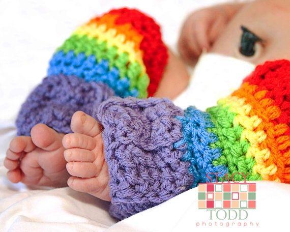 Rainbow Leg Warmers Hooked On A Feeling Pinterest