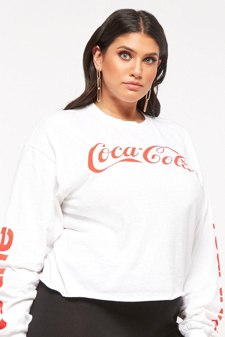 2f4c5c78ae2 Product Name Plus Size Coca-Cola Raw-Cut Tee