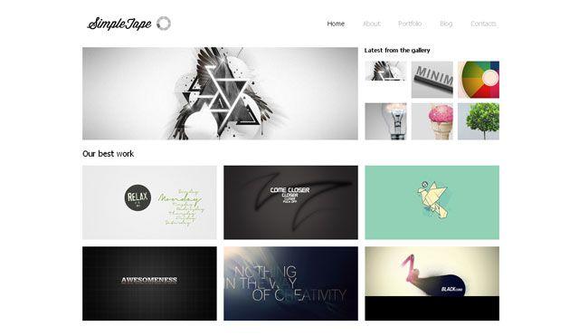 web designer portfolio template