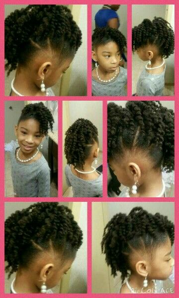 Twist Out Mohawk Natural Hairstyles For Kids Natural Hair Styles Girls Natural Hairstyles
