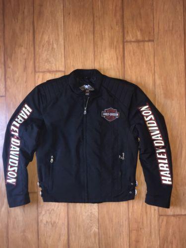 Harley Davidson Men's Jacket Sz Med. Insulated Lining Embroidered Cafe Racer https://t.co/JkXh5k5eZo https://t.co/osVx05OBi8