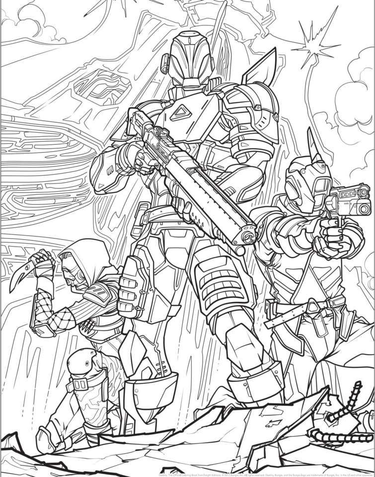 Destiny coloring page Coloring pages, Book drawing