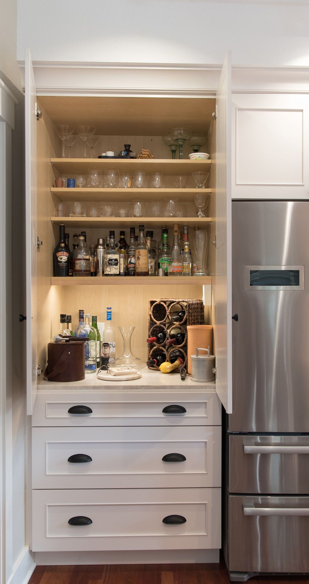 Pin by Rhonda Holt on Ideas for the House Hidden kitchen