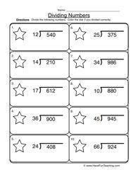 Dividing 2 into 3 Digit Worksheet 1 | 5th Grade Math | Pinterest ...