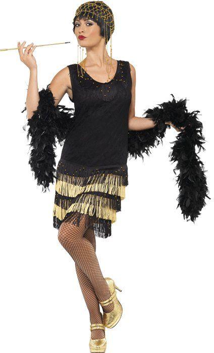 b0ce2b00ba4be Mujer Años 20 con flecos Flapper Disfraz Plus FREE cigarrillos soporte  todos los tamaños