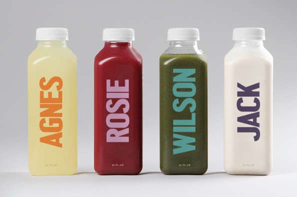 Humanized packaged juices juice bottles bottle packaging and juice bunch juice company has named and personalized their products juice branding trendhunter malvernweather Choice Image