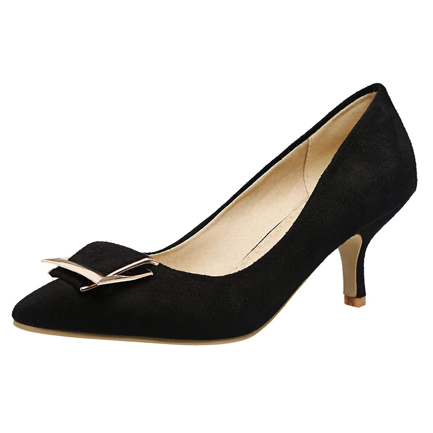 ea77a9088d4 Latasa Women s Faux Suede Pointed-toe Kitten Heels Pumps. Latasa Company is  a collection