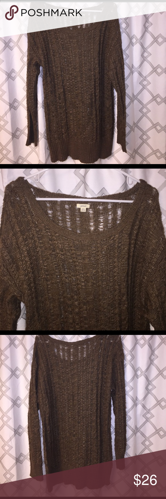 aerie American Eagle Brown long Sweater / Dress | Long sweaters ...