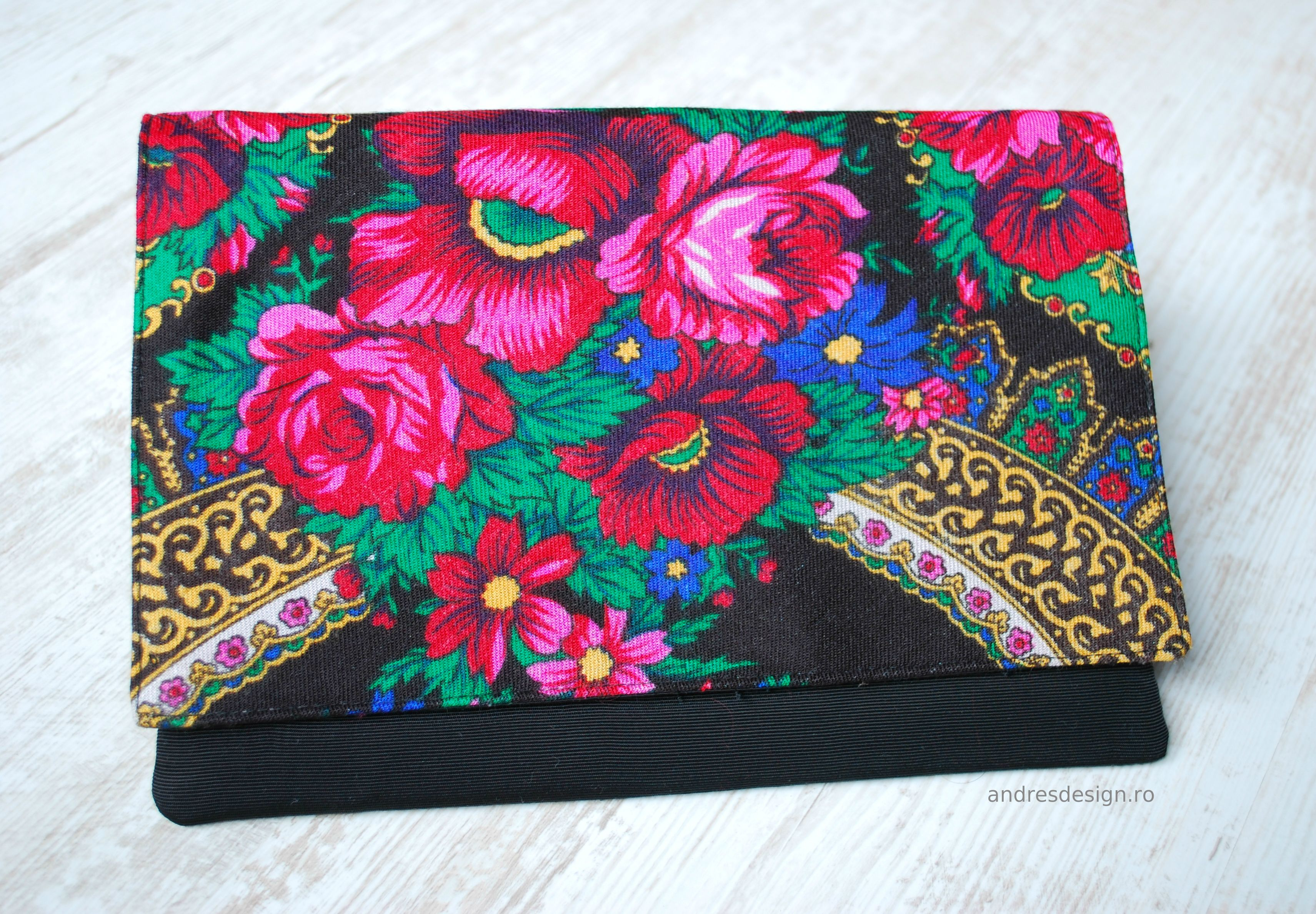 Custom made clutch - gipsy motif  price: 75 lei For orders, email me: contact@andresdesign.ro