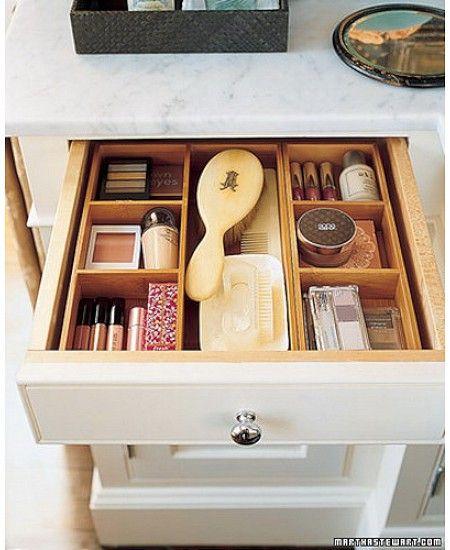 Storage tips \u0026 ideas Makeup Drawers. Hidden away , and