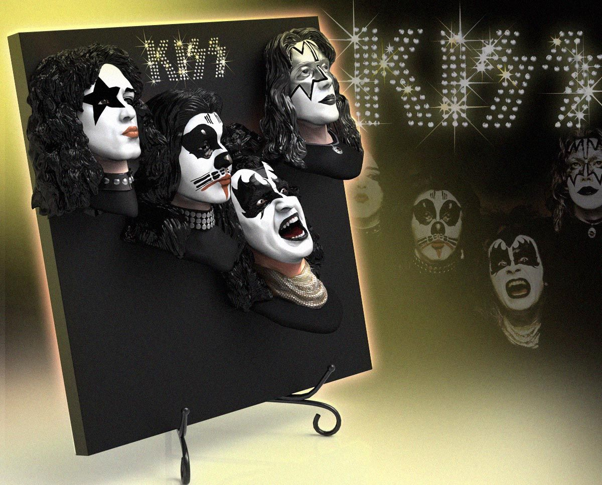 Kiss Debut Album 3d Vinyl Knucklebonz Inc Debut Album Kiss Merchandise Unique Collectibles