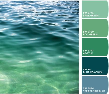 Ocean inspired color palette love love love it for Ocean blue color combinations