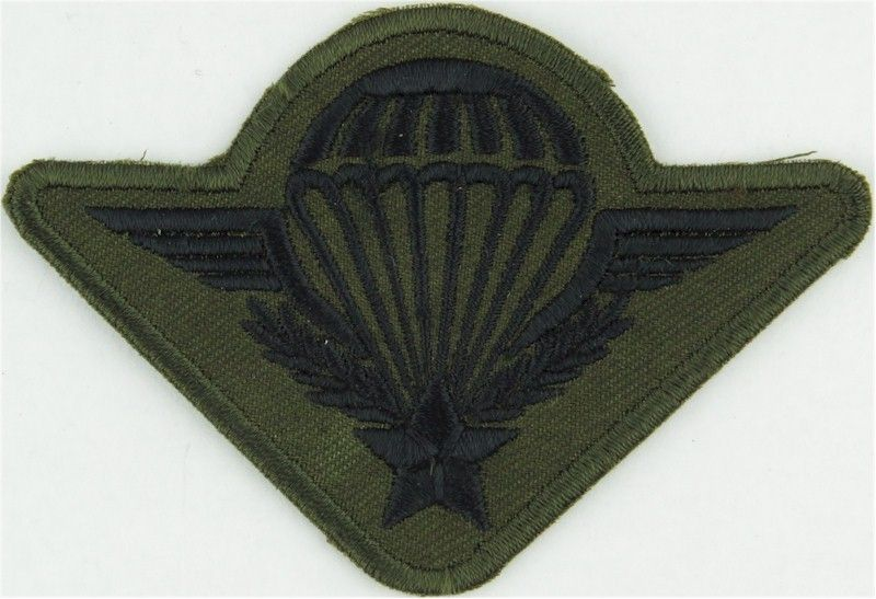 US ARMY OLIVE BLACK SUBDUED PARACHUTE WINGS PARA WINGS AIRBORNE FORCES INSIGNIA