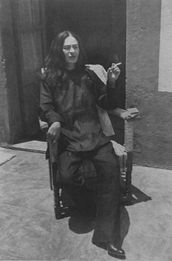 Antonio Kahlo - Frida In Chinese Pajamas, 1948 - Platinum print, printed later by Ava Vargas - 9 3/4 x 6 3/4 in.