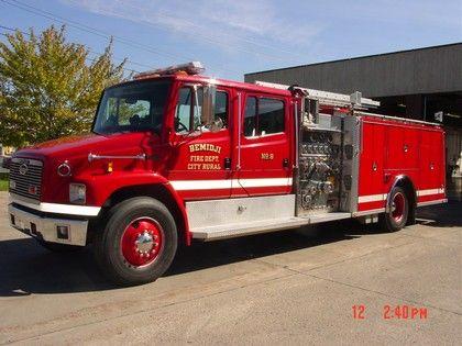 Bemidji Fire Department Mn Engine 8 1995 Freightliner