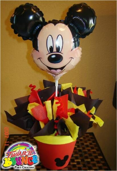 Centro De Mesa Minnie Mouse Cumpleanos Infantiles
