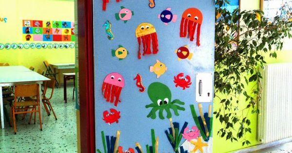 Puerta verano decoraci n puertas aula pinterest for Decoracion puerta aula infantil