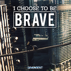 Bravery is not fearlessness. Bravery is knowing your fears, and choosing to overcome them.