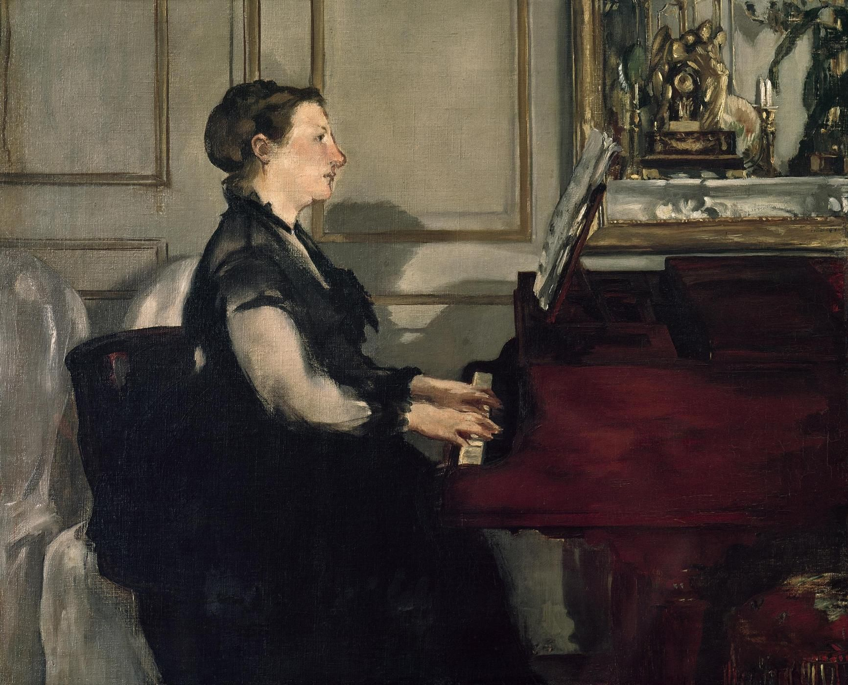 Édouard Manet - Madame Manet au piano   マネ, 絵画, 音楽
