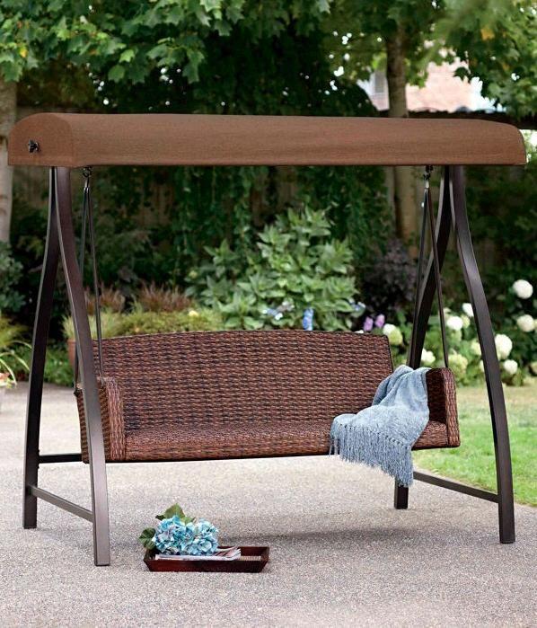 Costco Wholesale Garden Swing Seat Patio Shade Patio Swing