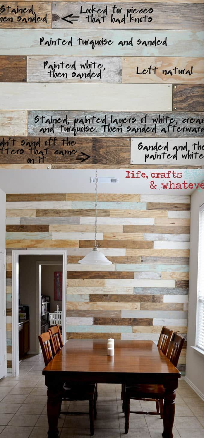 Wooden transport pallets have become increasingly popular for diy - Pallet Wall And Shiplap Wall 30 Beautiful Diy Wood Wall Ideas