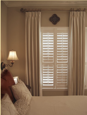 We know you like shutters, but if you feel torn when it comes to dressing your #windows because you like curtains, too, then don't be. You can combine café-style shutters with curtains, left, or full height #shutters, right. Remember, just a dress curtain will give you the look because the shutters will control the light. Check out the details on the site http://bit.ly/1oMIrO5
