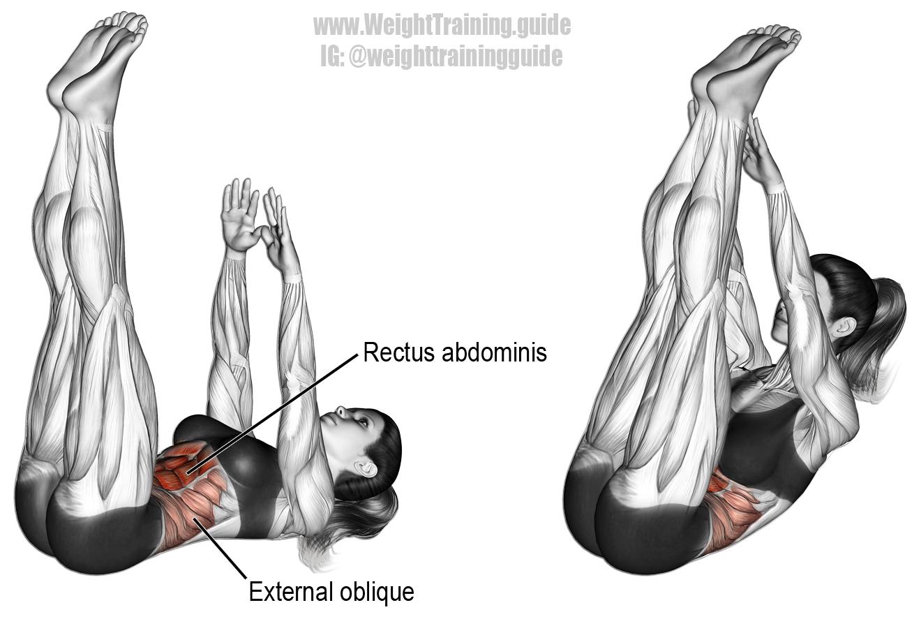 vertical leg crunches instructions
