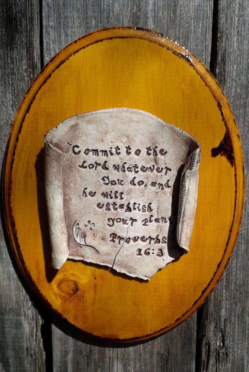 Christian bible verse proverbs 16 3 christian wall art